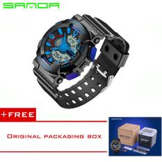 SANDA 2016 New Fashion Quartz Watch Men Luxury Men Watches Waterproof Sport G Style S Shock Men's Watch Relogio Reloj Hombre299 (Blue) [Buy 1 Get 1 Freebie]