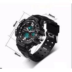 SANDA Fashion Watch Men G Style Waterproof LED Sports Military Watches Shock Men's Analog Quartz Digital Watch Relogio Masculino 289 (Red)