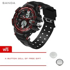 SANDA Fashion Watch Men G Style Waterproof LED Sports Military Watches Shock Men's Analog Quartz Digital Watch Relogio Masculino 289 (Red) - Intl [Buy 1 Get 1 Freebie]