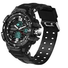 SANDA Fashion Watch Men G Style Waterproof LED Sports Military Watches Shock Men's Analog Quartz Digital Watch Relogio Masculino 289 (Silver) - Intl