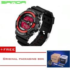 SANDA LED Digital Watch Men Watches 2016 Top Brand Luxury Famous Male Clock Military Watch Sport Digital-watch Relogio Masculino320 (Red) [Buy 1 Get 1 Freebie]