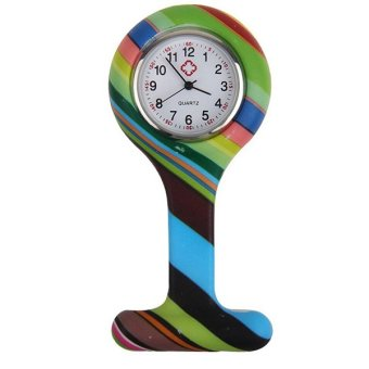 Sanwood® Fashion Patterned Silicone Nurses Brooch Pocket Watch Type 1