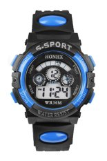 Sanwood Men's Boys' Date Alarm Stopwatch Sports LED Digital Rubber Wrist Watch Blue
