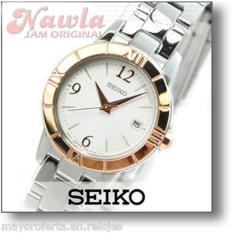 Seiko Ladies SXDE36P1 Quartz Rose Gold Bezel   Jam Wanita SXDE36