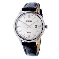 Seiko Watch Classic Black Stainless-Steel Case Leather Strap Ladies Japan NWT + Warranty SUR703P1
