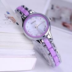 SENDA merek Watch menonton kecil yang indah dial wanita menonton fashionflower pola mahasiswa kuarsa watch gelang 8466 - intl