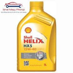 Shell Helix HX5 15W-40 SN - Pelumas Oli Mesin Mobil Bensin 1 Liter