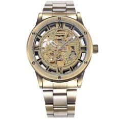 SHENHUA WSH351 Vintage Stainless Steel Skeleton Automatic Mechanical Men Wrist Watch (Bronze) (Intl)