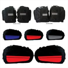 Sidebag motor Side Bag Side Kick Oval Tas Samping Motor Waterproof Funcover BIRU