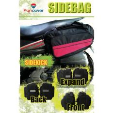 Sidebag motor Side Bag Side Kick Oval Tas Samping Motor Waterproof Funcover MERAH