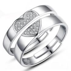 Silver Adjustable Couple Rings Jewelry Affectionate Lovers Rings E026
