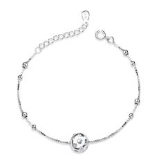 Silver Heart Ball Shaped Pendant Girls Women Pendant Bracelet - Intl