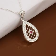 Silver Plated Pendant Necklaces For Women Silver Plated Chain Jewelry N449 Wedding Super Offer Minimalistic - Intl