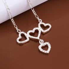 Silver Plated Pendant Necklaces For Women Silver Plated Chain Jewelry N500 Female Halskette Bulk Sale - Intl