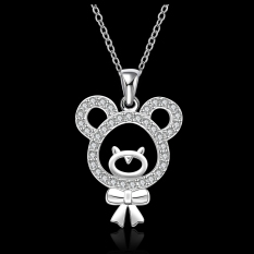 Silver Plated Pendant Necklaces For Women Silver Plated Chain Jewelry N577 Collier Monile For Mother - Intl