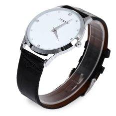 Sinobi 9141 Luxury Watch Men Faux Leather Strap Wristwatch For Men Water Resistant Male Japan Ultrathin Quartz Watch Rhinestone