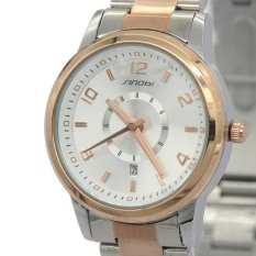 Sinobi Calendar Women Golden Case Stainless Steel Quartz Sport Military Wrist Watches 003196