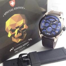 Siwiss Army SA5198 Special Edition - Jam Tangan Pria - Leather Strap (Coklat Tua)