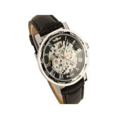 Skeleton Mechanical Watches Stainless Steel Black - intl
