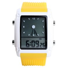 SKMEI 0814 High Quality Street Fashion Style Trend Originality Design Waterproof Electronic Watch (Yellow)
