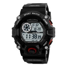 Skmei 1019 Digital Watch Men Camouflage Military Army Wristwatch Red