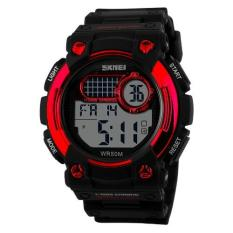 Skmei 1054 Digital Watch Shock Militer Sport Watch Water Resistant 50m - Hitam Merah (Black)