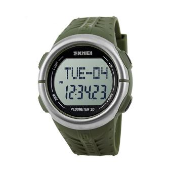 Skmei 1058 Waterproof 50m With LED Backlight Sport Watch Wristwatch Army Green