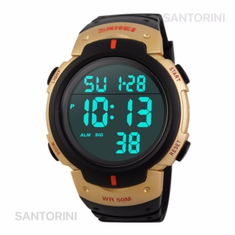 SKMEI 1068 Jam Tangan Pria Fashion Casual Waterproof LED Digital Sport Men Watch - GOLD