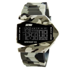 SKMEI 2016 Brand Fashion Camouflage Style Digital Men Sports Miltary Watch - Intl