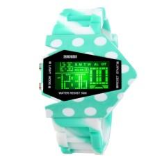 Skmei Camouflage Airplane Men Women Sports Waterproof Digital Watch LED Colorful Light Unisex Wristwatch (#7) (Intl)