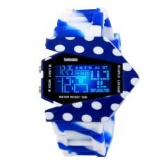 Skmei Camouflage Airplane Men Women Sports Waterproof Digital Watch LED Colorful Light Unisex Wristwatch (#8) (Intl)