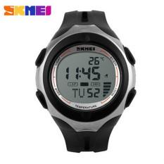 SKMEI Brand Outdoor Sports Watches Men Women Digital Watch Multifunction Temperature Waterproof Casual Wristwatch (White)