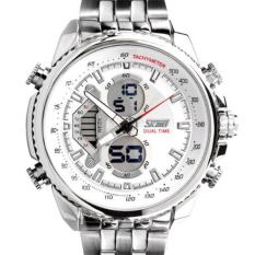 SKMEI Casio Men Sport LED Watch Water Resistant 30m - AD0993 (White)