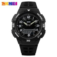 SKMEI Casio Men Sport LED Watch Water Resistant 50m - AD1065 - White