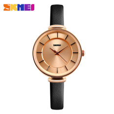 SKMEI Casual Women Leather Strap Watch Water Resistant 30m - 1184CL - Black Gold