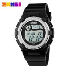 SKMEI Children Sport Silicone LED Watch Water Resistant 50m Jam Tangan Sport Anak DG1161 Jam Tangan Anak Digital - Hitam