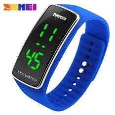 SKMEI Digital Watches Women Fashion Luxury Watch Ladies Dress Bracelet LED Wristwatches (Blue)