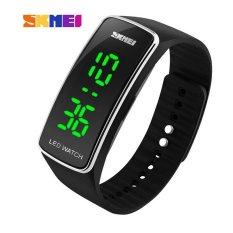 SKMEI Digital Watches Women Fashion Luxury Watch Ladies Dress Bracelet LED Wristwatches (Silver)