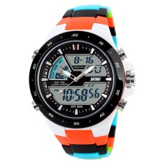 SKMEI Double Time Zone Digital Quartz LED Waterproof Watches Camo - Intl
