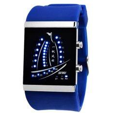 Skmei Electronic Jelly 30m Waterproof Digital Lovers Watch (Blue) 1001