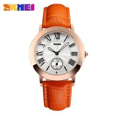 SKMEI Fashion Casual Ladies Leather Strap Watch Water Resistant 30m - 1083CL - Orange