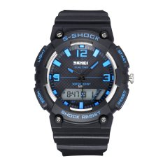SKMEI Fashion Watches Cool Waterproof Male and Female Student Movement In Electronic Watches-Blue (Intl)