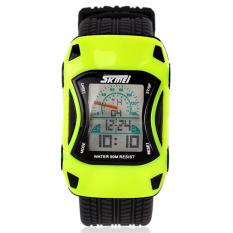 SKMEI - Jam Tangan Anak - Kuning - Rubber Strap - Speed Car Watch