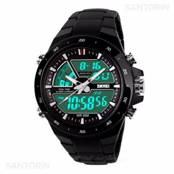 SKMEI Jam Tangan Skmei Pria Olahraga Tahan Air Analog Digital LED Multifungsi Waterproof Sports Men Watch - Black