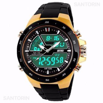 SKMEI Jam Tangan Skmei Pria Olahraga Tahan Air Analog Digital LED Multifungsi Waterproof Sports Men Watch - Gold