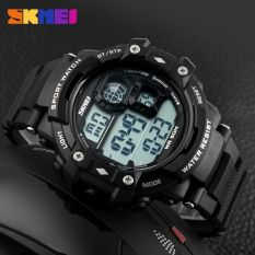 ... AD1187 Source SKMEI Men Sport LED Watch Water Resistant 50m DG1118 Black White