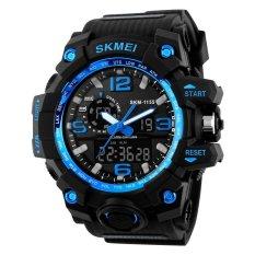 SKMEI Men's Fashion Big Size Dual Time Analog & Digital Sport Watch - Intl