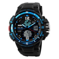 SKMEI Men's Military Fashion Dual Time Analog & Digital Sport Watch - Intl