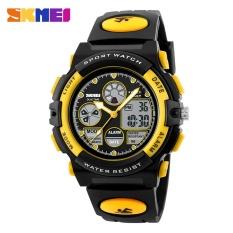 SKMEI merek menonton anak-anak menonton Fashion Waterproof multifungsi kuarsa Digital Olahraga kasual untuk jam tangan siswa 1163 - intl