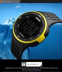 SKMEI merek Watch 1219 baru menonton pria Stopwatch Waterproof LED Digital militer olahraga siswa Fashion kolam arloji - intl